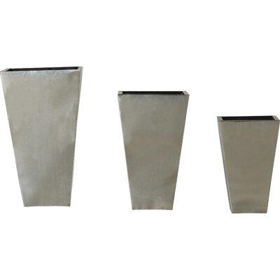 Brayden Studio Farnum 3-Piece Metal Pot Planter Set