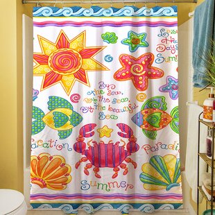 Check Prices By the Sea Shower Curtain ByManual Woodworkers & Weavers