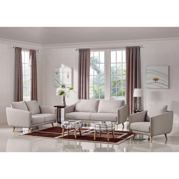 ivy bronx alivia 3 piece living room set reviews wayfair. Black Bedroom Furniture Sets. Home Design Ideas