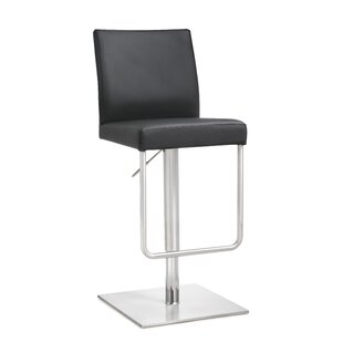 Carly Adjustable Height Swivel Bar Stool Orren Ellis