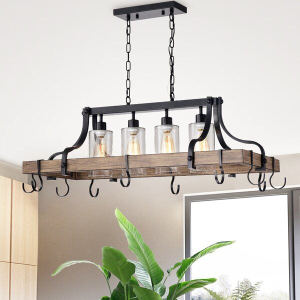 Gracie Oaks Greig 4 Light Kitchen Island Linear Pendant Wayfair