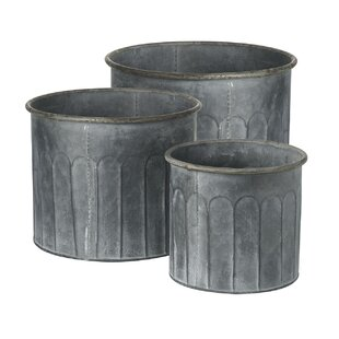 Goris 3 Piece Metal Plant Pot Set Image