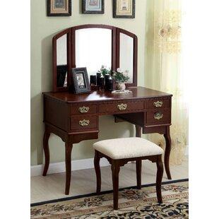 Astoria Grand Rosendahl Vanity Set with Mirror