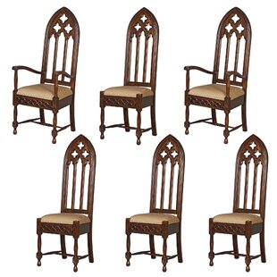 Design Toscano 6 Piece Viollet-Le-Duc Gothic Armchair Chair Set