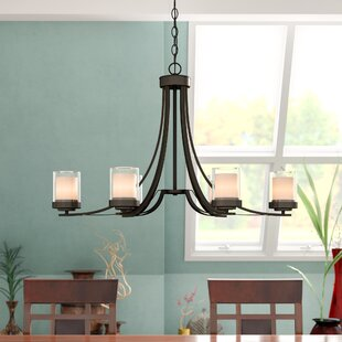 Cheyne 6-Light Shaded Chandelier by World Menagerie
