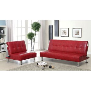Bulle 2 Piece Leather Living Room Set by A&J Homes Studio