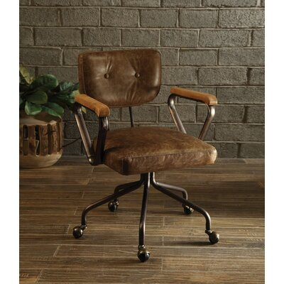 17 Stories Cornelio Task Chair Color Whiskey