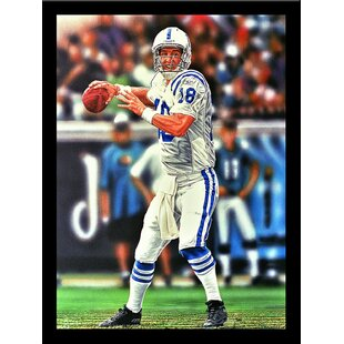 'Peyton Manning Indianapolis Colts' Print Poster by Darryl Vlasak Framed Memorabilia By Buy Art For Less