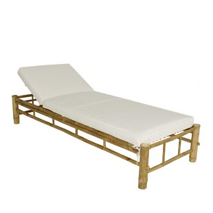 Irving Bamboo Adjustable Reclining Chaise Lounge with Cushion