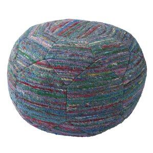 Bungalow Rose Cannon Solid Rayon and Polyester Pouf Ottoman