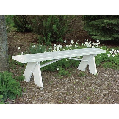 Lunas Vinyl Picnic Bench by August Grove