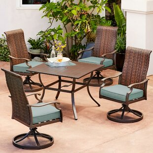 Bayou Breeze Kinlaw Rhone Valley 5 Piece Dining Set with Cushions