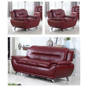 Juliano Modern 3 Piece Living Room Set