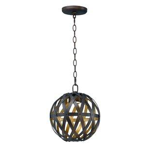 Deskins 1-Light LED Globe Pendant by Brayden Studio
