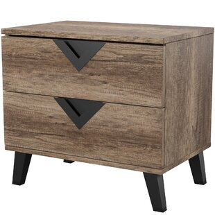 Clearance Elkin 2 Drawer Nightstand by Mercury Row