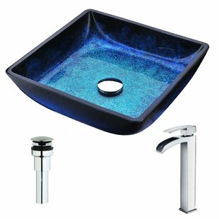 Looking for Viace Glass Square Vessel Bathroom Sink with Faucet By ANZZI