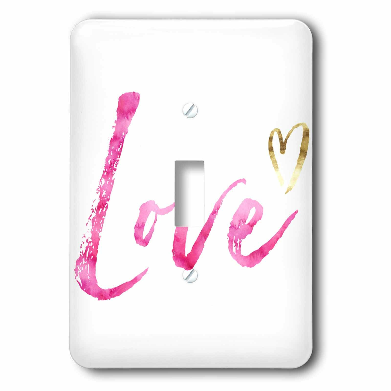 3drose Love With Heart 1 Gang Toggle Light Switch Wall Plate Wayfair