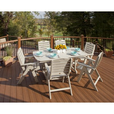 Yacht Club 7 Piece Dining Set Trex Outdoor Color: Tree House