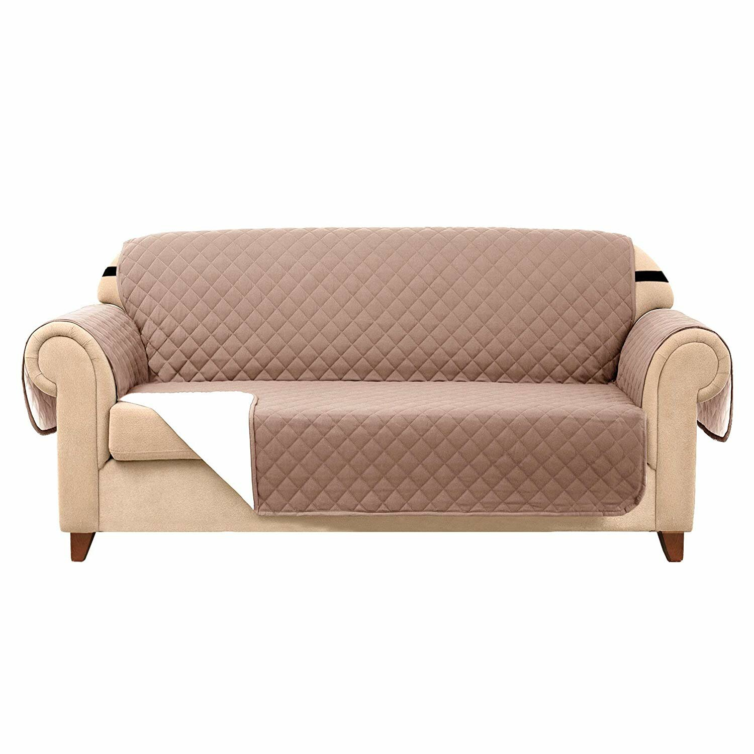 Enjoyable Quilted Reversible Box Cushion Sofa Slipcover Gmtry Best Dining Table And Chair Ideas Images Gmtryco
