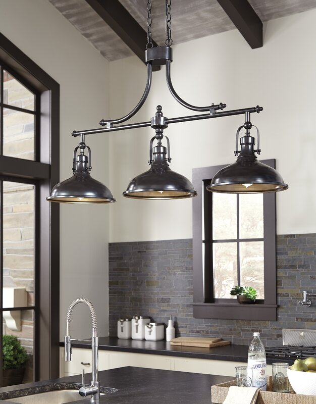 martinique 3 light kitchen island pendant - Light Pendants For Kitchen