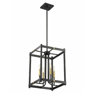 Arlen 4-Light Lantern Chandelier by Wroug..