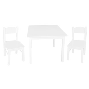 Belsay Children's 3 Piece Solid Wood Square Table And Chair Set By ClassicLiving