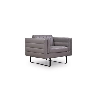 Shaka Italian Leather Armchair by Orren Ellis
