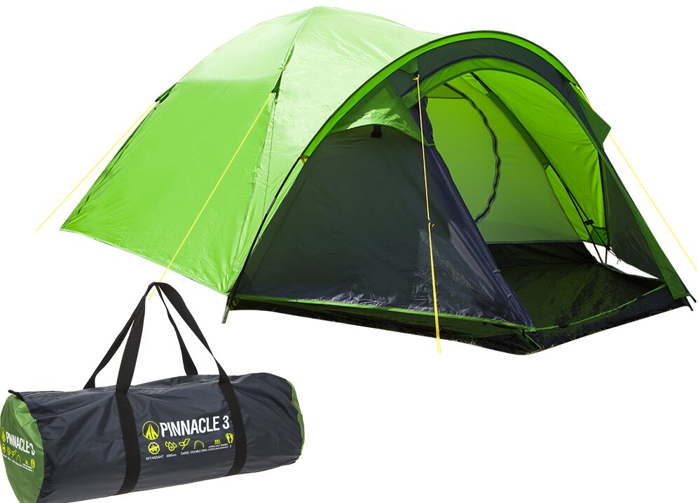 Hydra Pinnacle Double Skin Dome 3 Person Tent with Carry Bag  sc 1 st  Wayfair & SUMMIT Hydra Pinnacle Double Skin Dome 3 Person Tent with Carry ...