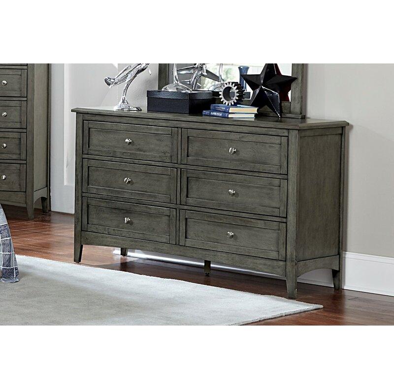 Charlton Home Socorro 6 Drawer Double Dresser With Mirror Reviews Wayfair