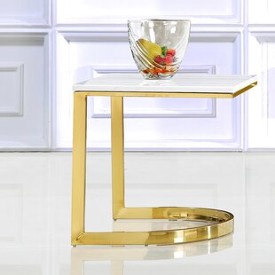 Price Check Brookside Marble End Table by Everly Quinn