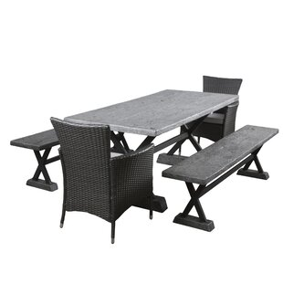17 Stories Austin 5 Piece Dining Set with Cushions