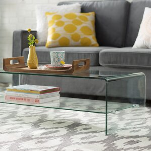 Artemon Transparent Coffee Table by Mercury Row