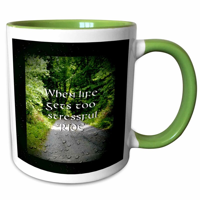 Foundry Select Chau A Photo Of A Country Road With A Motorcycle Saying On It Coffee Mug Wayfair