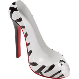 Zebra Print High Heel 1 Bottle Tabletop W..