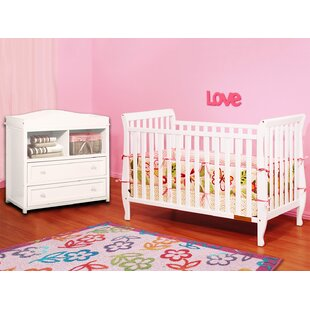 Compare prices Naomi 4-in-1 Convertible 2 Piece Crib Set ByAFG Baby Furniture