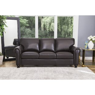 Wonderful Coggins Leather Sofa Darby Home Co