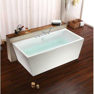 Compare 67 x 32 Freestanding Soaking Bathtub ByStreamline Bath