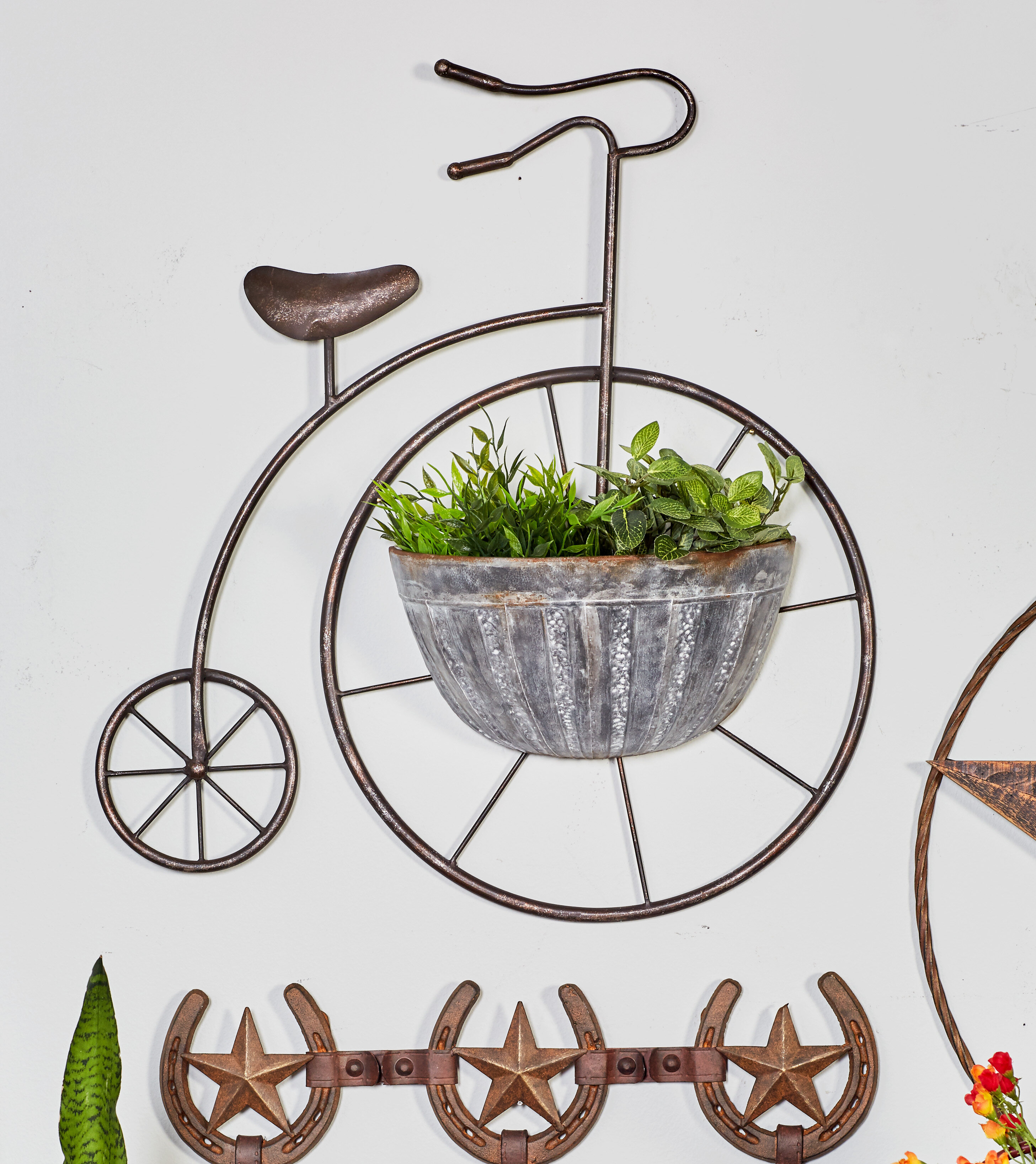 Cole Grey Penny Iron Wall Planter Wayfair