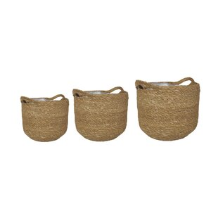 Tristin Natural Fibre Cachepot (Set Of 3) By House Of Hampton