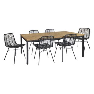 Chrisman Extendable Dining Set With 6 Chairs By Bay Isle Home