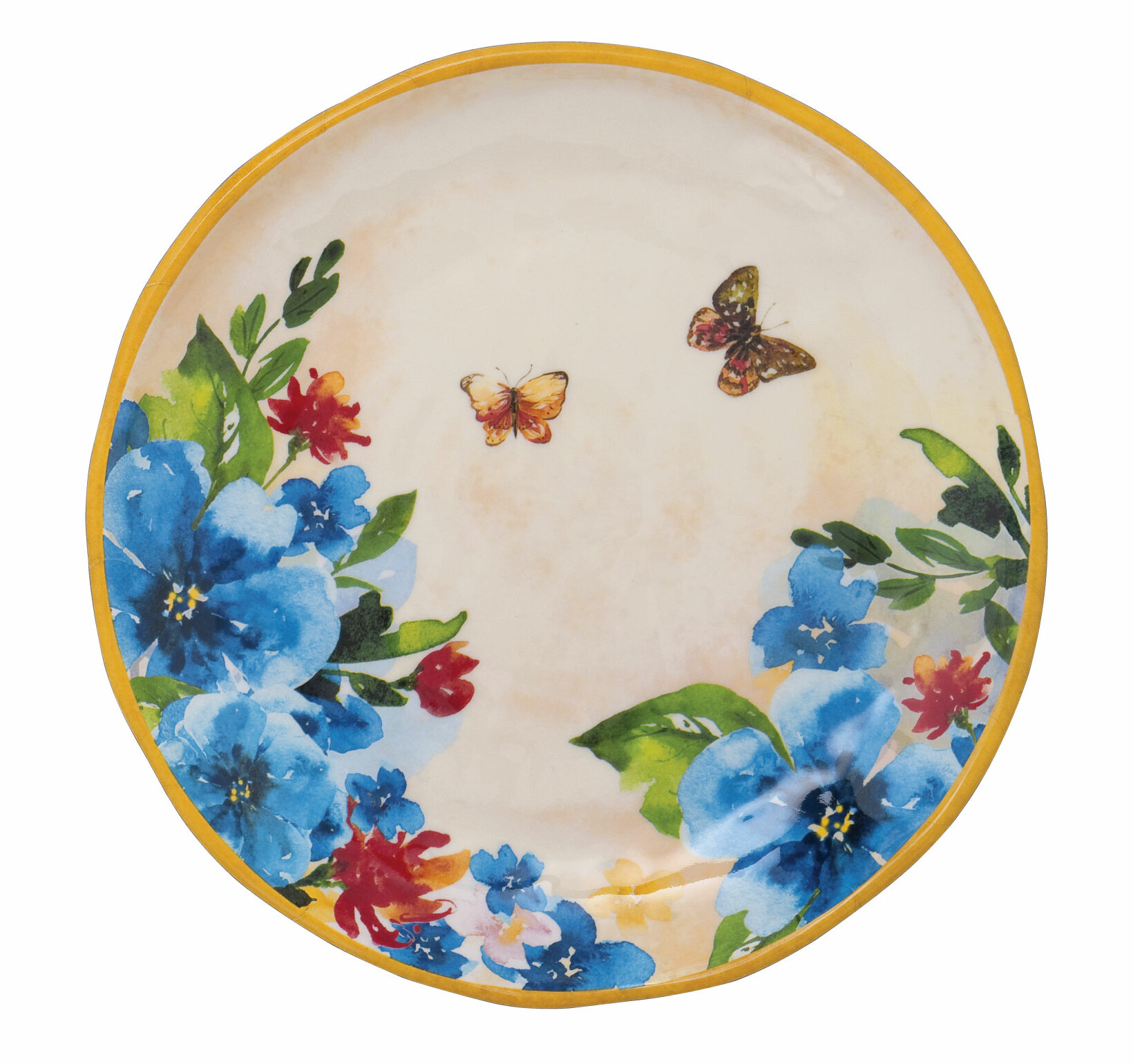 August Grove Tullos Butterfly 6 Melamine Bread And Butter Plate Wayfair