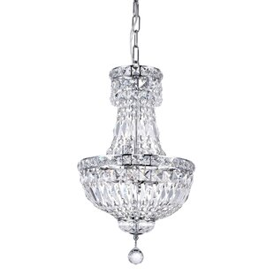 House of Hampton Cy 4-Light Crystal Chandelier