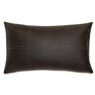 Theo Faux Leather Lumbar Pillow