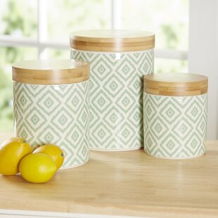 Wilshire 3 Piece Kitchen Canister Set & Kitchen Canisters u0026 Jars | Birch Lane