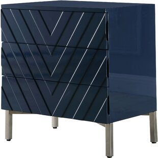 Affordable Price Malcom 3 Drawer Nightstand by Mercury Row