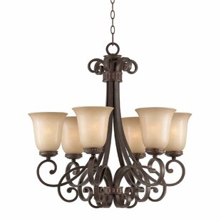 Fleur De Lis Living Greendale 6-Light Shaded Chandelier