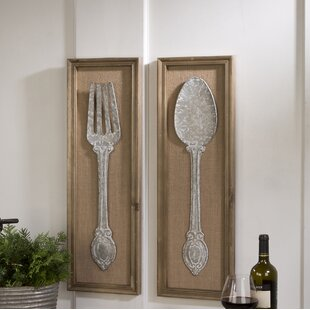 Spoon And Fork 2 Piece Wall Decor Set
