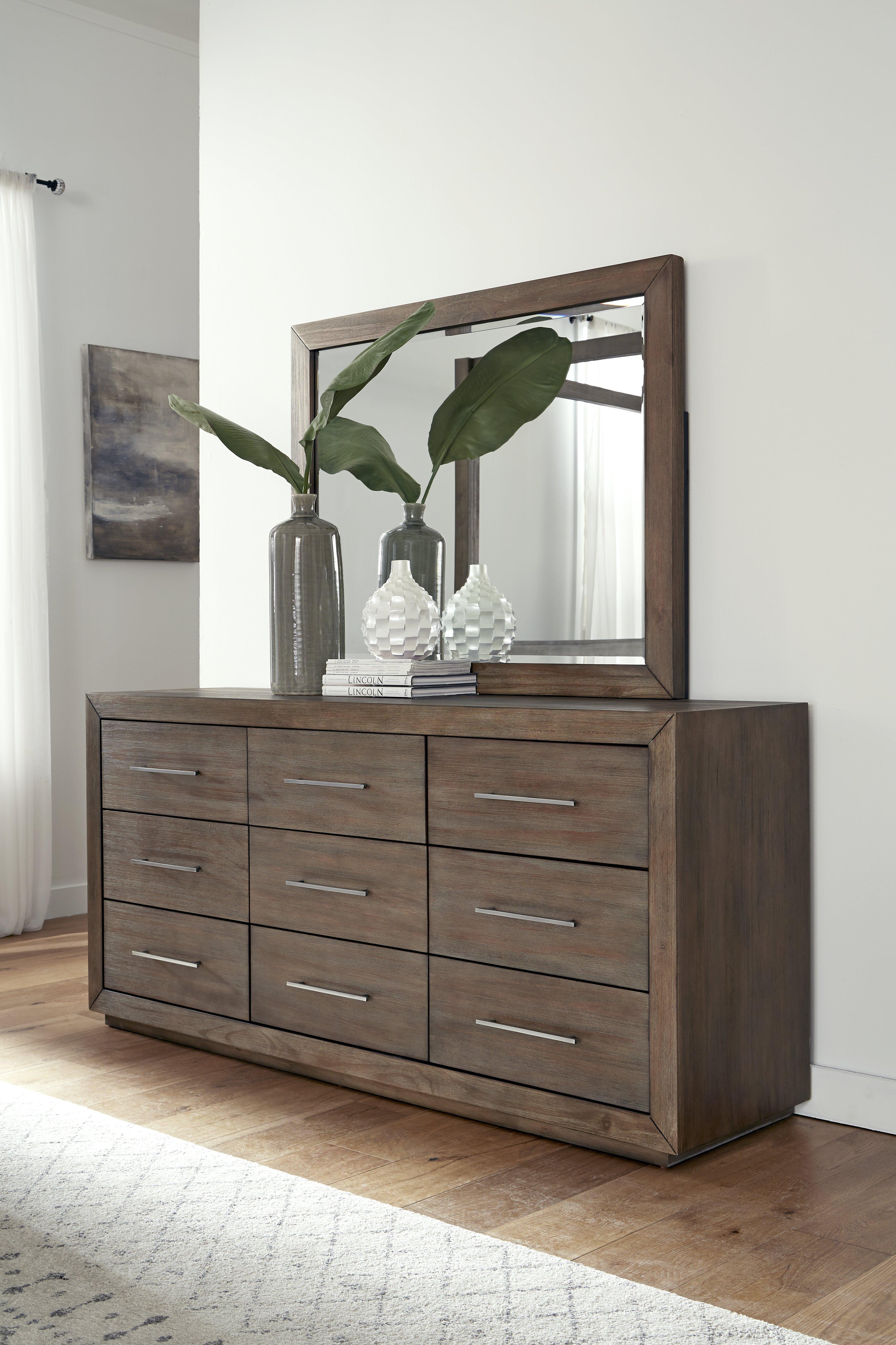 Arruda 9 Drawer Double Dresser With Mirror Reviews Joss Main