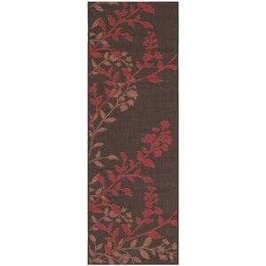 Laurel Chocolate / Red Indoor/Outdoor Rug