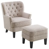Elroy Wingback Chair and Ottoman by Alcott Hill
